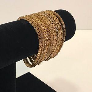 VINTAGE Gold Multi-strand Bracelet